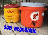3 gal and 5 gal coolers Beaumont, 77713