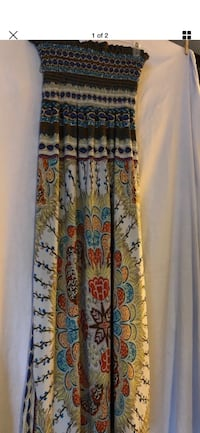 Brown and green floral summer dress 2236 mi