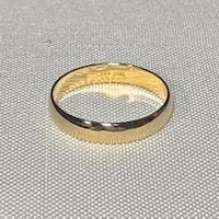 Men's 14k Yellow Gold Wedding Band Ring Ashburn