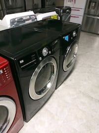Black front load washer and drayer  Laurel, 20707