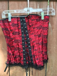 red and black floral corset Houston, 77009
