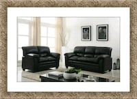 Black sofa and loveseat bonded free delivery Crofton