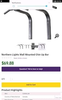 Northen liht solid chin up pull up bar  Burnaby, V5G