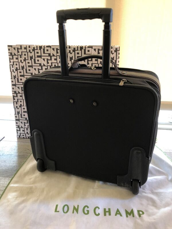 Longchamp Boxford Black trolley Carry On Luggage 24f26c24-d3ee-46b2-89dd-4c2a0ef62a20