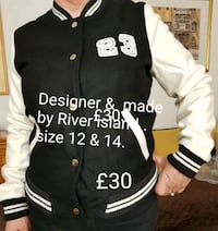 black and white Adidas zip-up jacket Greater London, SE1 3SX