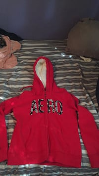 red and black The North Face zip-up hoodie Washington, 20024