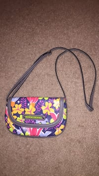 black, yellow, and pink floral crossbody bag Doylestown, 18902