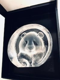 Panda Etched Crystal Swedish Artist