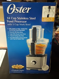 Brand new & sealed Oster 14 cup SS Food Processor