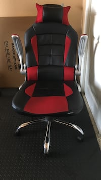black and red leather rolling armchair El Paso, 79906