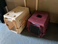 Red and tan pet carriers/crates Raleigh
