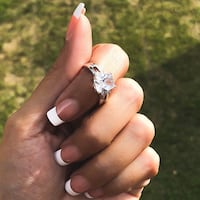 Ladies Pretty 10KT White Gold Filled Wedding Engagement Ring  Fresno, 93704