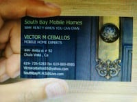 Used e mobile repair business card for sale in chula vista letgo south bay mobile homes business card chula vista 91911 reheart Images