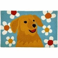Accent Rug with Yellow Lab or Golden Retriever Dallas