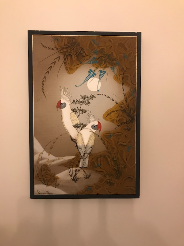 Hand painted art , Asian style , wall art