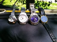 3 round silver analog watches with silver bands. Long Beach, 90815