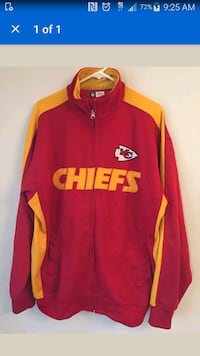 red and yellow chiefs full zip jacket Columbus