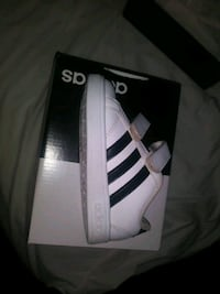 white and black Adidas  Wedowee, 36278