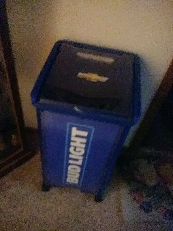 Bud Light cooler with light on top great conditi