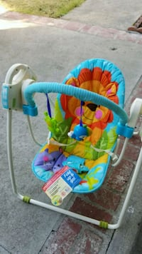 Fisher price blue and green swing Los Angeles, 91605