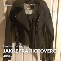 svart zip-up jakke Bergen, 5096