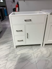 "30"" Modern White Single Sink Bathroom Vanity Cabinet"