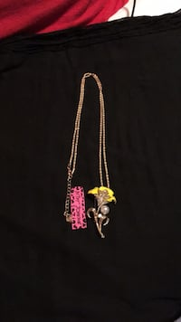 NWT Betsey Johnson Yellow Lily Necklace/Pin Laurel, 20723