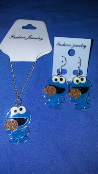 Cookie Monster necklace and earring set Portland, 97220