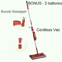 Like New Cordless Swivel Sweeper Vac 2 batteries Lanham, 20706