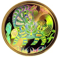 Gold Hologram Coin, Year of the Horse (2002)