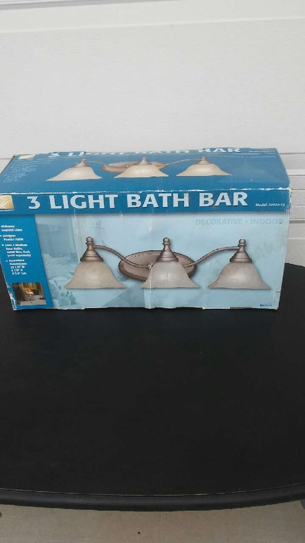New in the box 3 Light Wall Fixture
