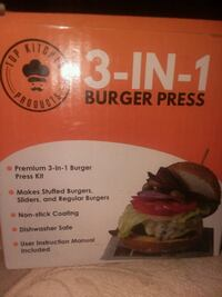 Top Kitchen Products. 3 - IN - 1 Burger Press