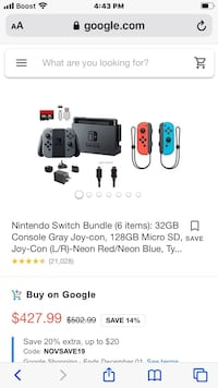 Brand New Never Opened Nintendo Switch and Super Mario Bros.U Deluxe Falling Waters, 25419
