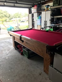 brown and red pool table Apopka, 32703