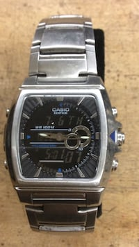 Casio edifice  stainless steel automatic watch pre owned 821334-1 Baltimore, 21205