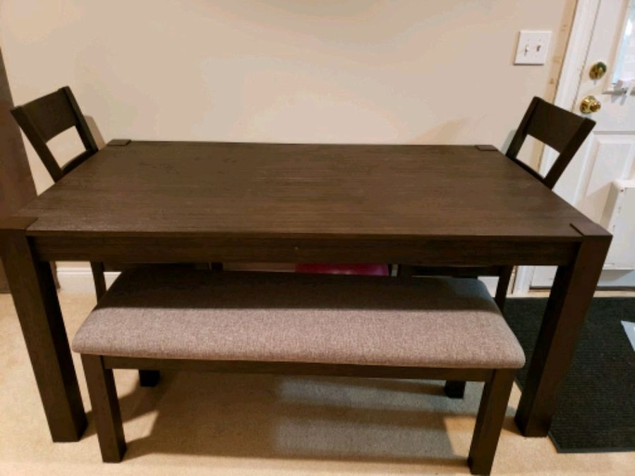 LetGo & Large Dining Table Chairs and Bench