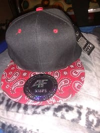 black and red fitted cap San Antonio, 78237