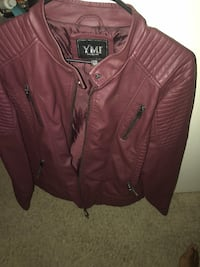 brown leather zip-up jacket Stockton, 95210