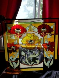 Hand Painted Stained Glass Window not Leaded Glass