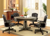 Game Dining Table Arm Chairs Set Riverside