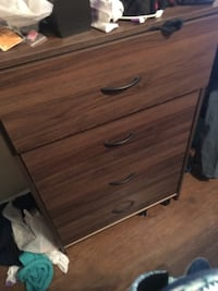 Brown wooden 4-drawer chest Columbus, 31907