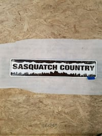 Sasquatch bigfoot country embossed metal sign  Vancouver, 98665