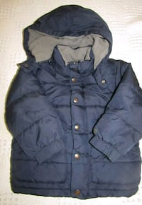 Boys 3yrs gap blue button-up bubble jacket London