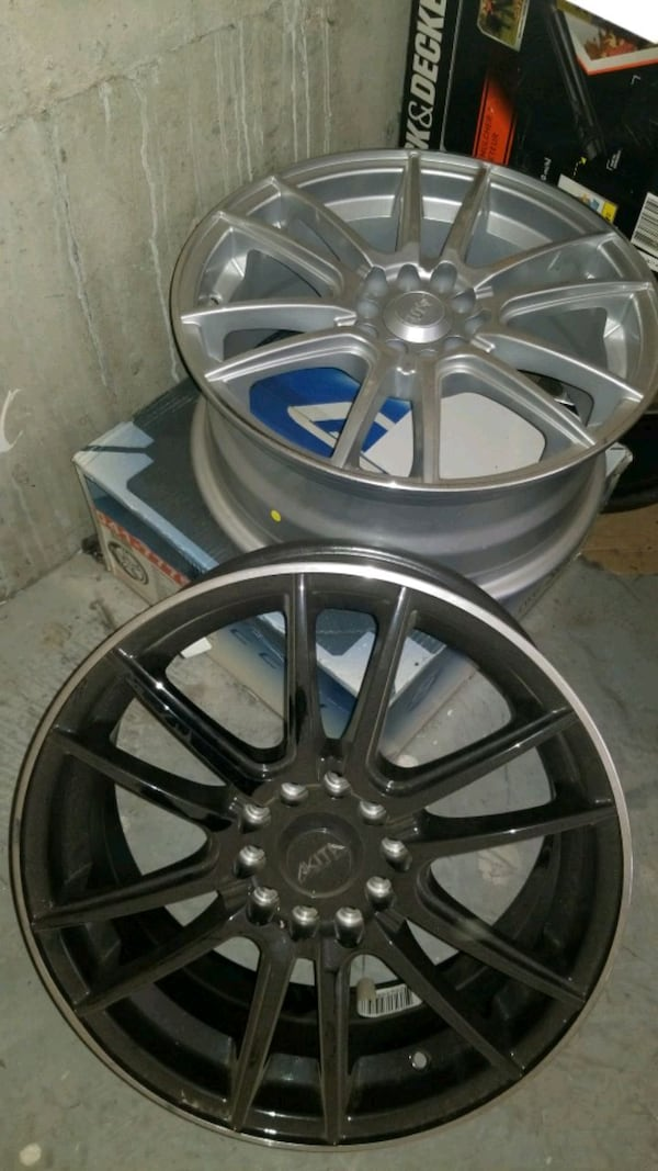 Wheels mags 4 alum custom new non matching tires 0