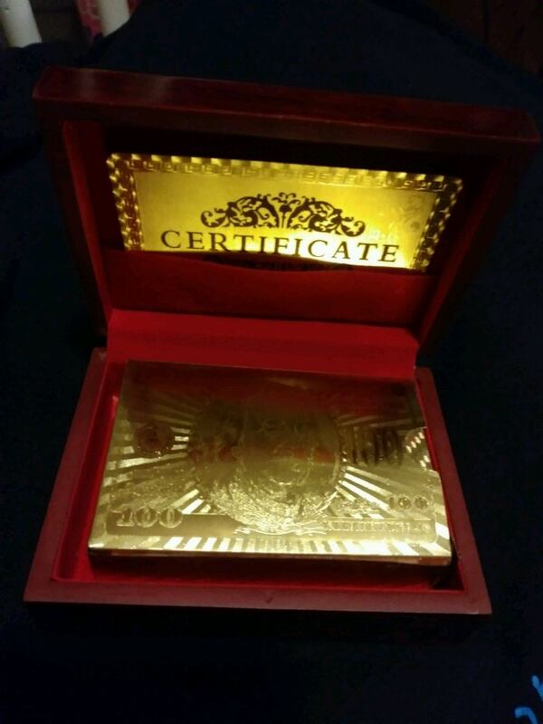 ✔ IT OUT! .999 GOLD FOIL PLAYING CARDS 54e91845-beae-4af9-b1db-f67889c909d7