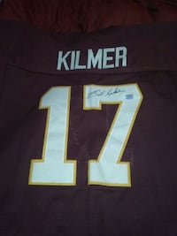 red and white Kilmer numbe 17 jersey shirt Milton, 17847