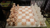 white and brown glass chess board Kenner, 70062