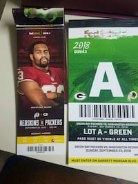 Skins vs. Green Bay 34 mi