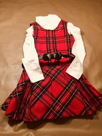 Red and white dress (size 6)