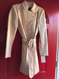 New With Tags light weight spring coat.  Size small, egg shell color